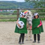 Fußball spielen mit den Ponys