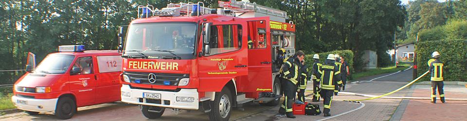 Feuerwehrübung der freiwilligen Feuerwehr
