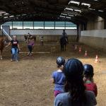 Der Spaßparcours mit den Pferden hat alle begeistert.