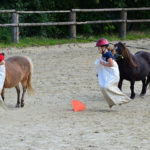 Das guckten die Ponys überrascht. Auch die Kids können hüpfen.